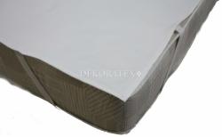 Chránič matrace do postýlky s úchyty - FROTÉ bílý - 120x60cm