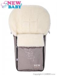 Fusak dětský ovčí vlna - NEW BABY béžový
