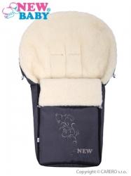 Fusak dětský ovčí vlna - NEW BABY šedý