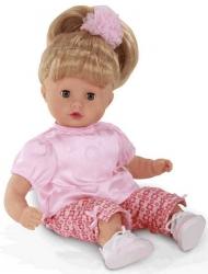 Hračka dětská - PANENKA MUFFIN blond vlásky - 33cm boty tmavě rů