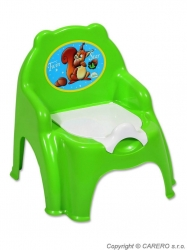 Nočník dětský plastový - ŽIDLIČKA - zelený