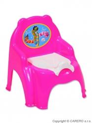 Nočník dětský plastový - ŽIDLIČKA - růžový