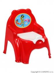 Nočník dětský plastový - ŽIDLIČKA - červený