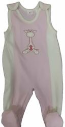 Dupačky kojenecké bavlna - ŽIRAFKA růžové - vel.74