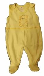 Dupačky kojenecké bavlna - MEDVÍDEK žluté - vel.56