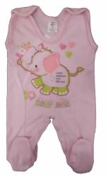 Dupačky kojenecké bavlna - SLONEČEK růžové - vel.50