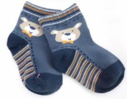 Ponožky dětské bavlna - MEDVÍDEK modré - vel.10-14měs.