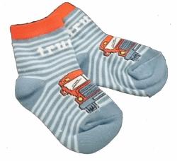 Ponožky dětské bavlna - TRUCK modré - vel.10-14měs.