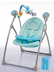 Lehátko dětské - HOUPAČKA s kolotočem a ovladačem modrá - Baby M