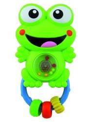 Chrastítko dětské se zvuky - ŽABIČKA zelená - BabyMix