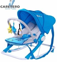 Lehátko pro miminko se stříškou - AQUA modré - Caretero