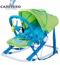 Lehátko pro miminko se stříškou - AQUA zeleno-modré - Caretero