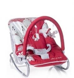 Lehátko pro miminko - JUNGLE červeno-růžové - 4Bbaby