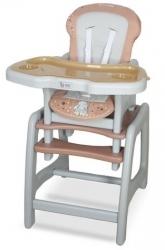 Židlička jídelní plastová se stolečkem - STARS béžová - CotoBaby