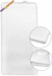 Matrace do kolébky - BABY DREAMS pěnová bílá - 40x90x6cm