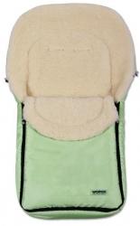 Fusak dětský ovčí vlna - WOMAR světle zelený