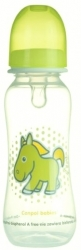 Lahev kojenecká plastová Canpol – KONÍK zelený - 250ml