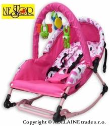 Lehátko pro miminko se stříškou - DELUXE světle růžové - Nestor