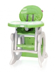 Židlička jídelní plastová se stolečkem - STARS Q zelená - CotoBa