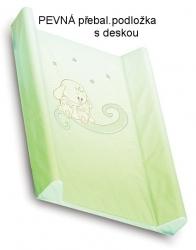 Podložka přebalovací pevná - KRÁLÍČEK zelená stínovaná - 70x50c