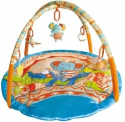 Deka hrací kulatá s hrazdami - KROKODÝL A SLON - BabyMix
