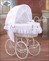 Koš na miminko RETRO bílý - BÍLÁ VÝBAVA - My Sweet Baby