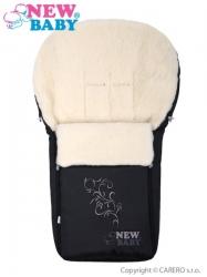 Fusak dětský ovčí vlna - NEW BABY černý
