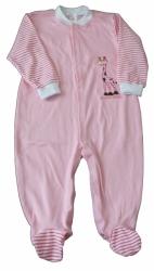 Overal kojenecký bavlna - ŽIRAFKA růžový - vel.98