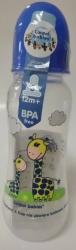 Lahev kojenecká plastová Canpol – ŽIRAFKY modrá – 250ml