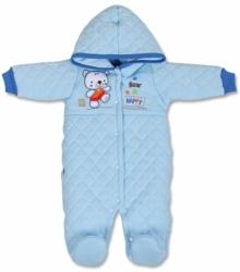 Kombinéza kojenecká zimní - MEDVÍDEK modrá - vel.62
