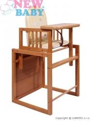 Židlička jídelní dřevěná se stolečkem - VICTORY buková