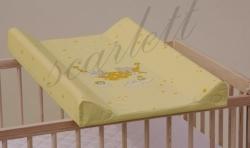 Podložka přebalovací pevná s deskou - PEJSEK A KOČIČKA žlutá - 7