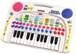 Hračka dětská plastová - PIANO S KLÁVESY A ZVÍŘÁTKY