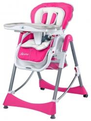 Židlička jídelní plastová Caretero - BISTRO růžová