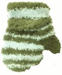 Rukavičky dětské s palečkem - LAMA PROUŽKY modro-khaki - vel.6-1