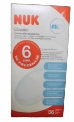 Prsní tampóny do kojící podprsenky - NUK CLASSIC bílé - 30+6ks