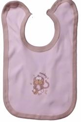 Bryndák dětský bavlna - OPIČKA růžový s hnědou - střední zavazov