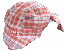 Čepice dětská letní - PIRÁTSURFERS kostka červeno-bílá