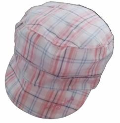 Čepice dětská letní - KŠILTOVKA kostka růžovo-modrá - vel.50-52c