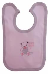 Bryndák dětský bavlna - TŘI MÉĎOVÉ růžový - střední zavazovací