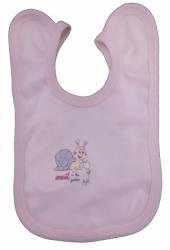 Bryndák dětský bavlna - ŠNEČEK růžový - střední zavazovací