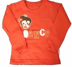 Tričko dětské dlouhý rukáv - DANCE červené - vel.92