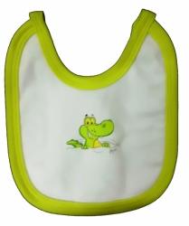 Bryndák dětský bavlna - CROCODILE bílý se žlutou - malý zavazova