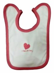 Bryndák dětský bavlna - MADE WITH LOVE bílo-růžový - střední zav