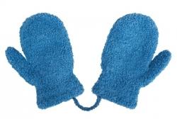 Rukavičky dětské s palečkem lama - JEDNOBAREVNÉ modré - vel.9-18