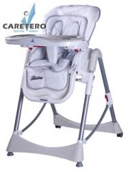 Židlička jídelní plastová Caretero - BISTRO bílá