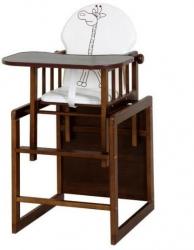 Židlička jídelní se stolečkem dřevěná ŽIRAFKA hnědá