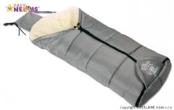 Fusak zimní multifunkční 4v1 - BABY NELLYS ovčí vlna - šedý