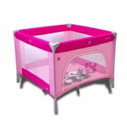 Ohrádka dětská skládací - CONTI PANDA růžová - 100x100cm
