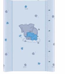 Podložka přebalovací pevná s deskou - SLONI modrá - 80x50cm